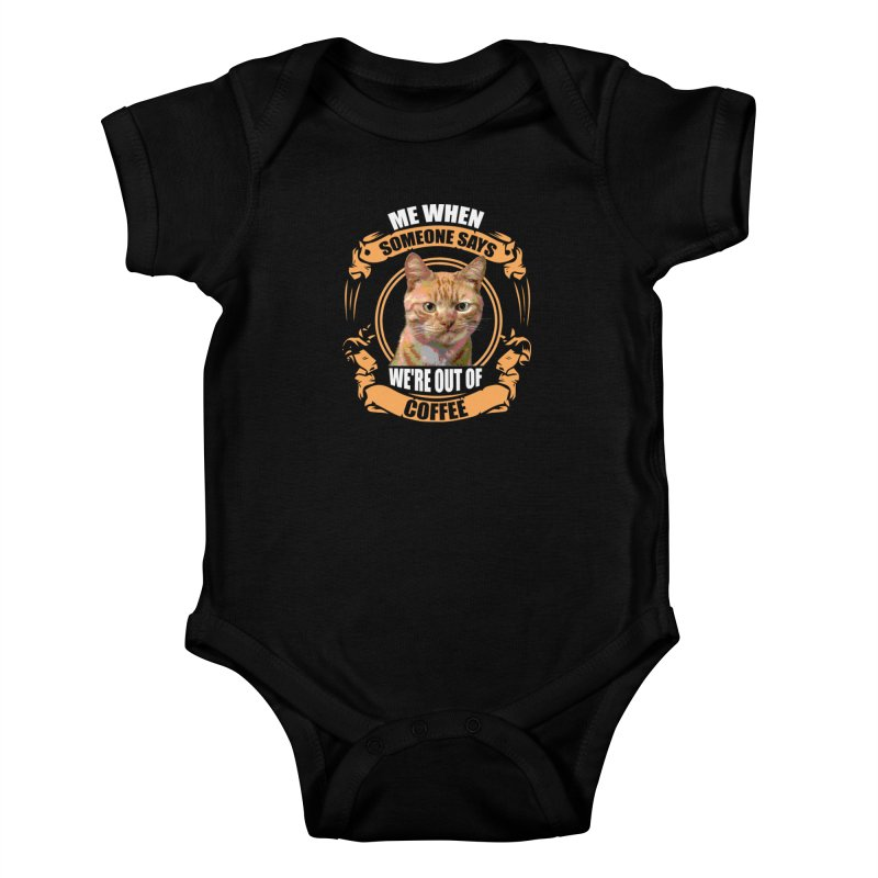 What no coffee Kids Baby Bodysuit by Mini Moo Moo Clothing Company