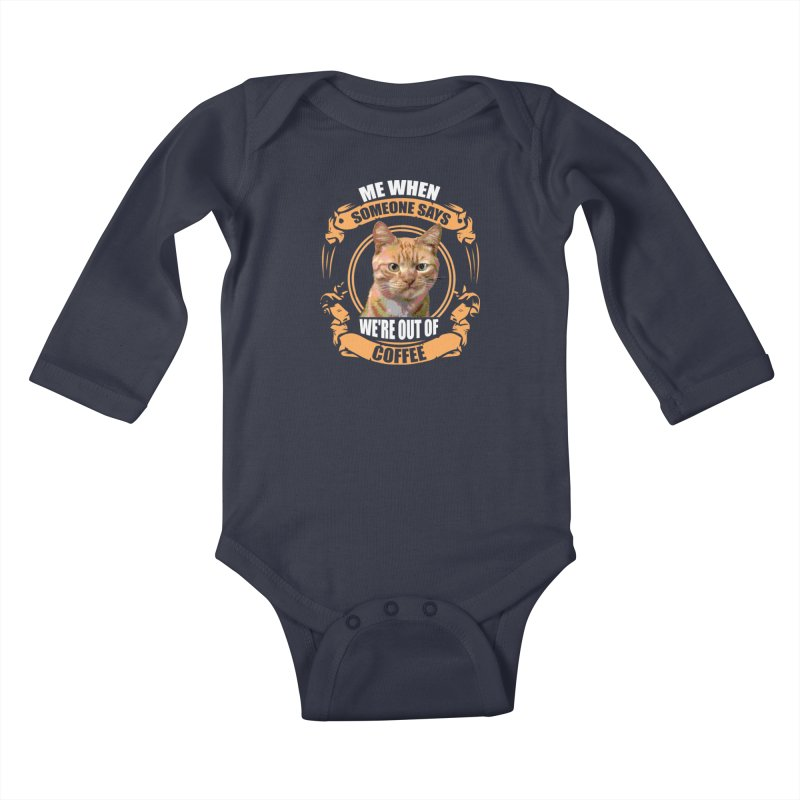 What no coffee Kids Baby Longsleeve Bodysuit by Mini Moo Moo Clothing Company