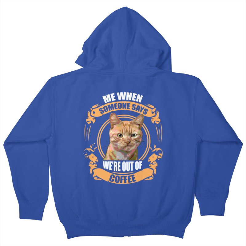 What no coffee Kids Zip-Up Hoody by Mini Moo Moo Clothing Company