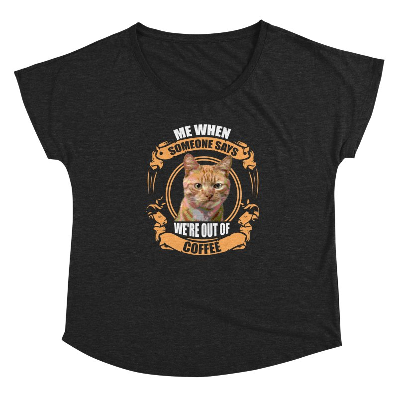 What no coffee Women's Scoop Neck by Mini Moo Moo Clothing Company