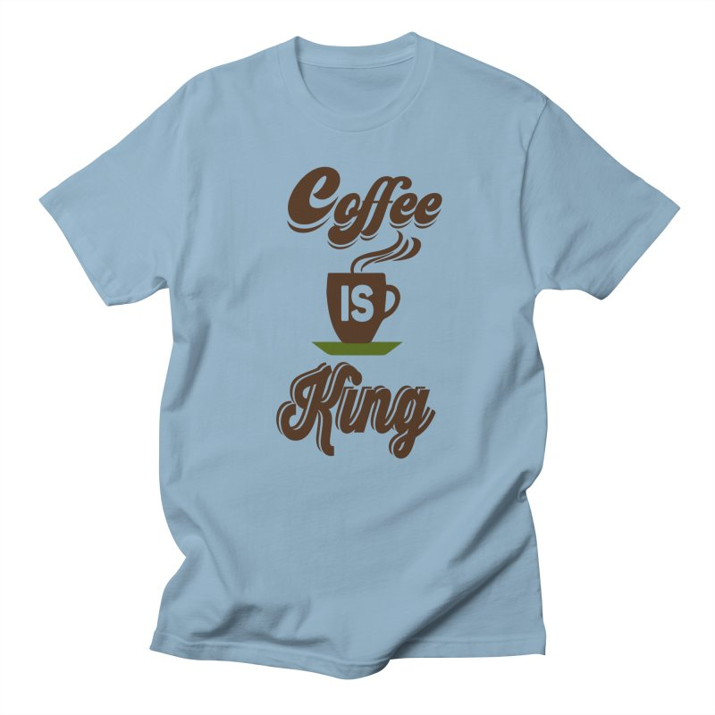 Coffee is King Men's T-Shirt by Mini Moo Moo Clothing Company