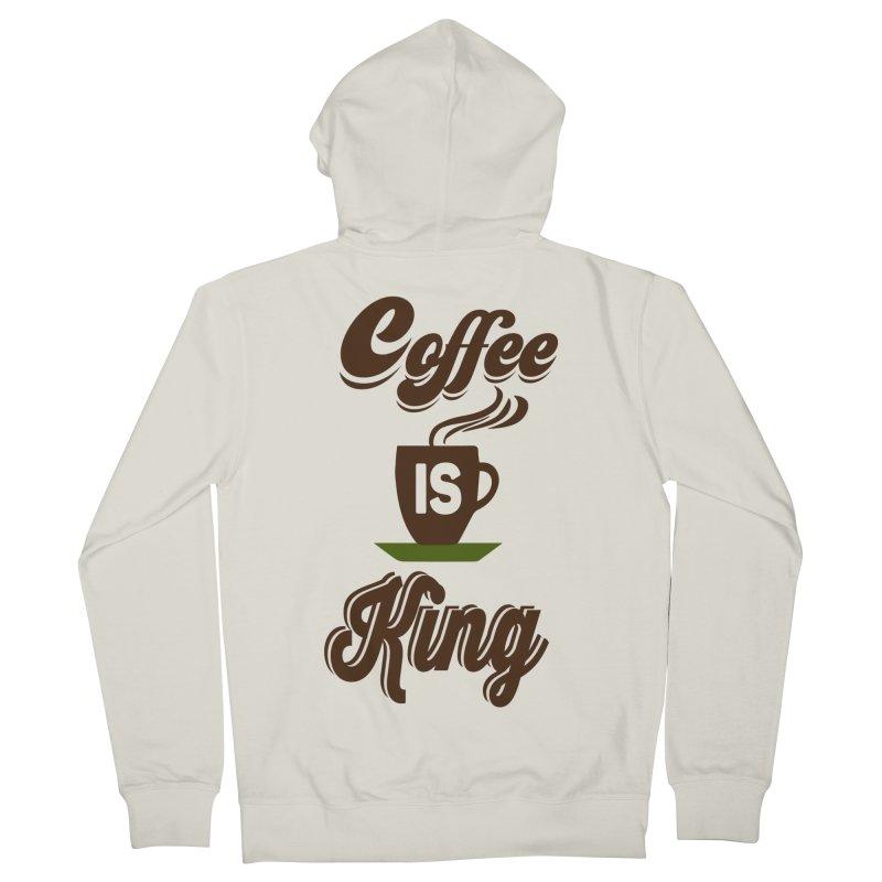 Coffee is King Women's Zip-Up Hoody by Mini Moo Moo Clothing Company
