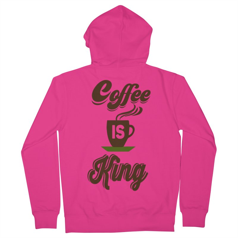 Coffee is King Men's French Terry Zip-Up Hoody by Mini Moo Moo Clothing Company