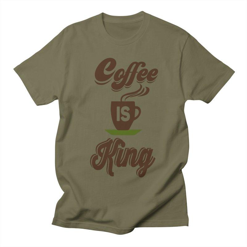 Coffee is King Men's Regular T-Shirt by Mini Moo Moo Clothing Company