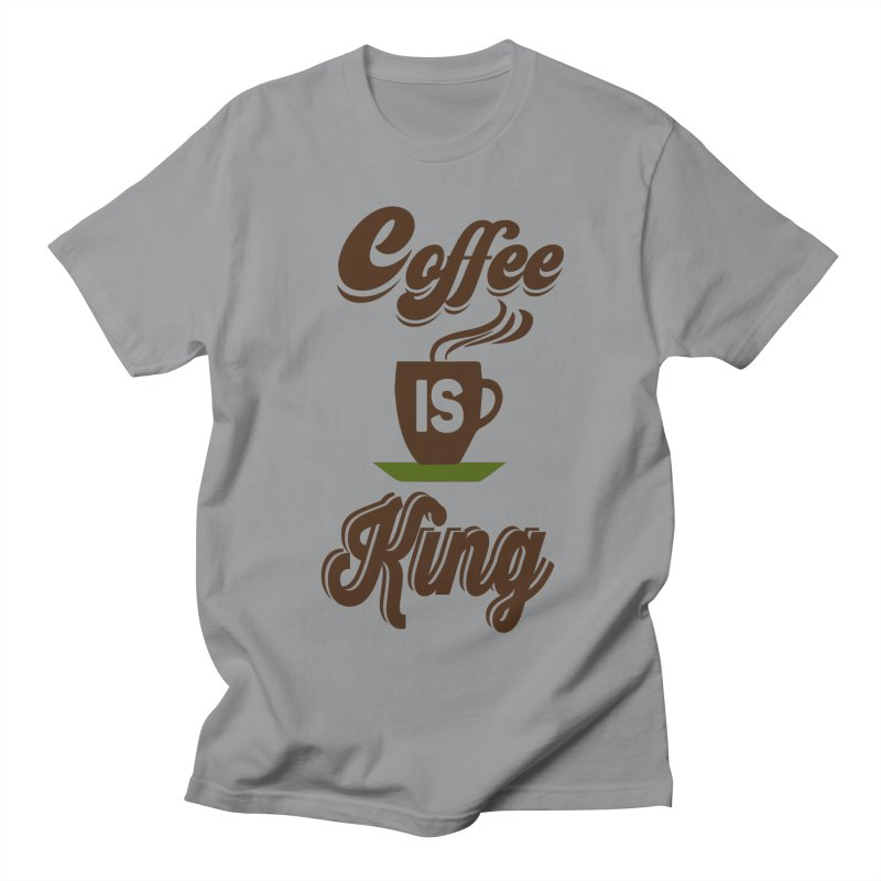 Coffee is King Women's Unisex T-Shirt by Mini Moo Moo Clothing Company