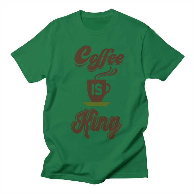 Coffee is King Men's Regular T-Shirt by Mini Moo Moo Clothing Company