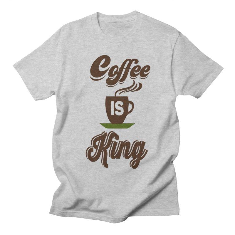 Coffee is King Women's Regular Unisex T-Shirt by Mini Moo Moo Clothing Company