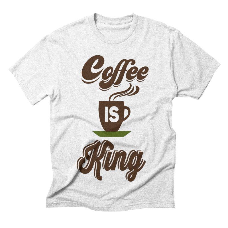 Coffee is King Men's Triblend T-shirt by Mini Moo Moo Clothing Company