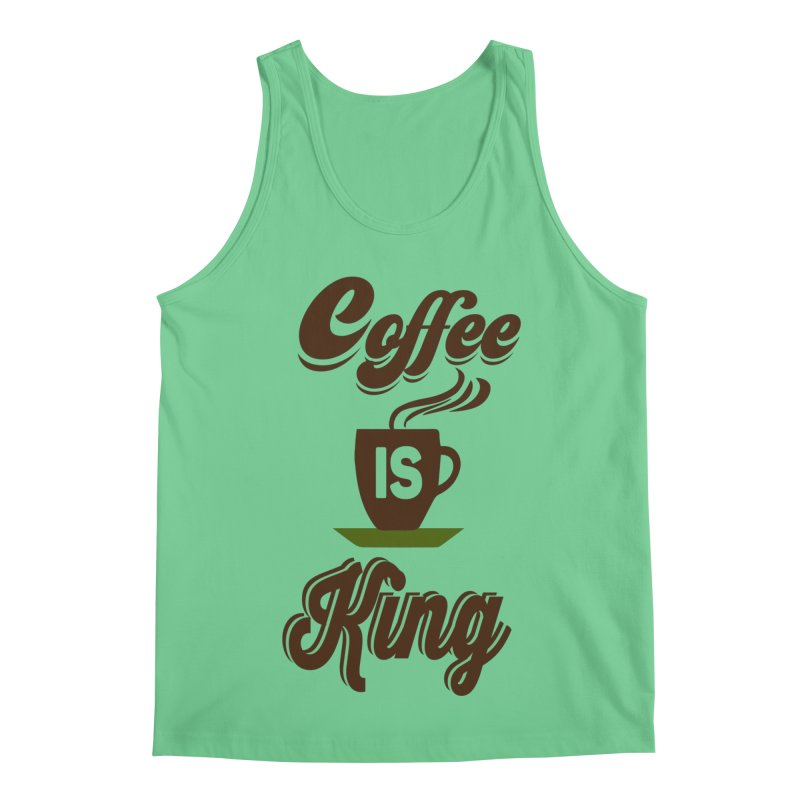 Coffee is King Men's Regular Tank by Mini Moo Moo Clothing Company