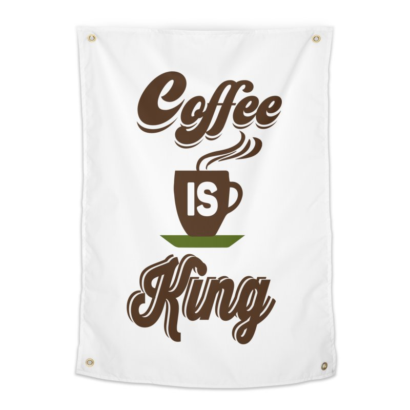 Coffee is King Home Tapestry by Mini Moo Moo Clothing Company
