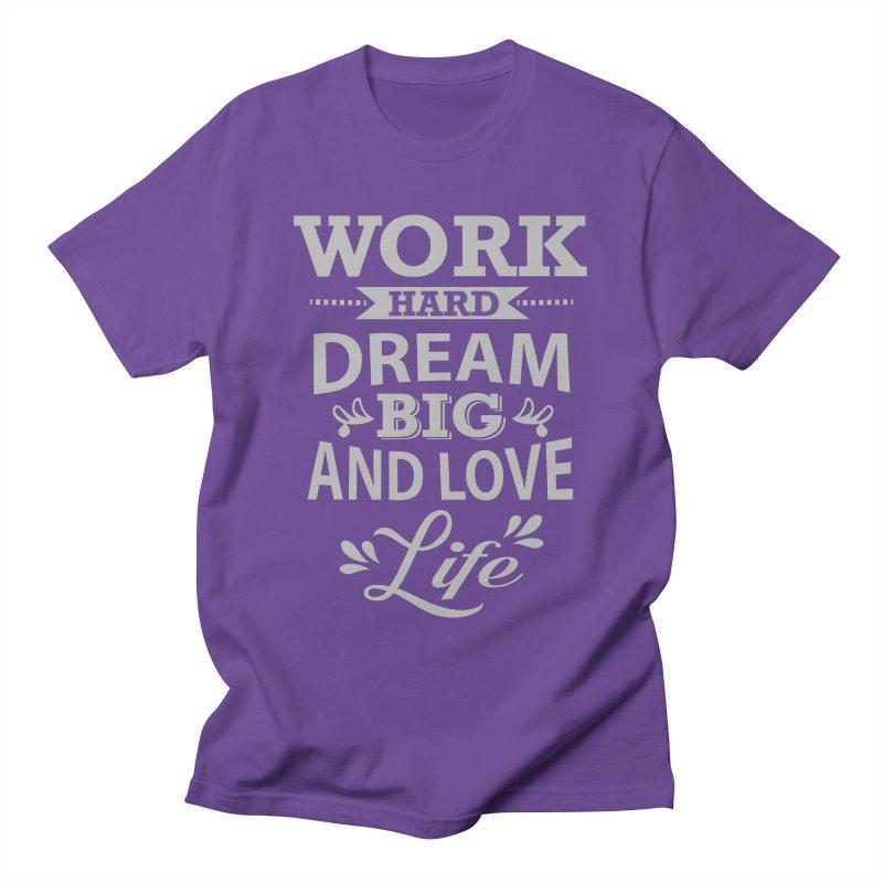 Work Dream Love Men's T-Shirt by Mini Moo Moo Clothing Company