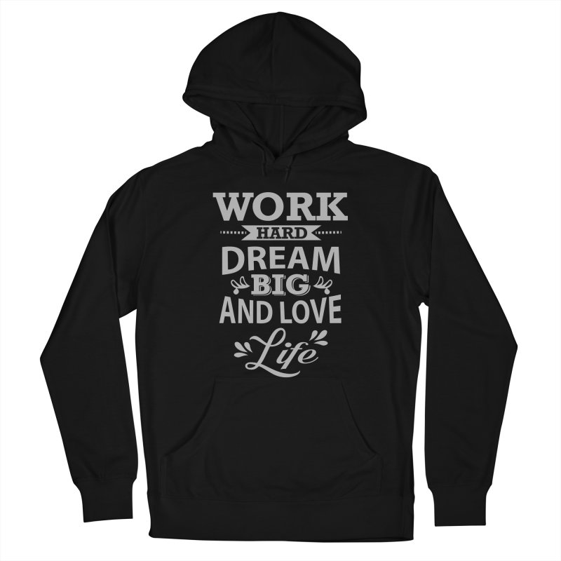Work Dream Love Women's French Terry Pullover Hoody by Mini Moo Moo Clothing Company