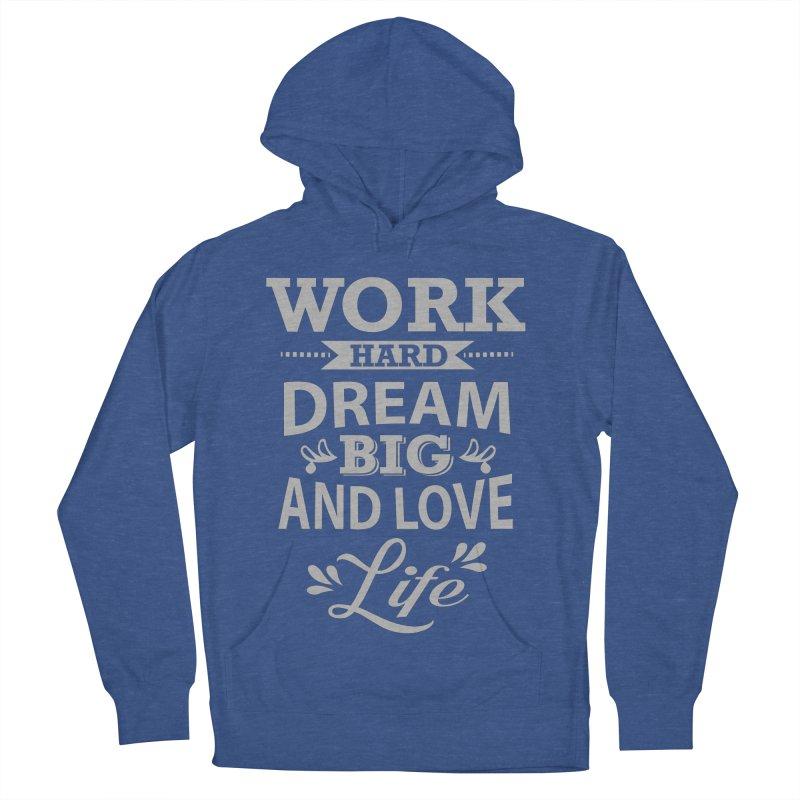 Work Dream Love Men's Pullover Hoody by Mini Moo Moo Clothing Company