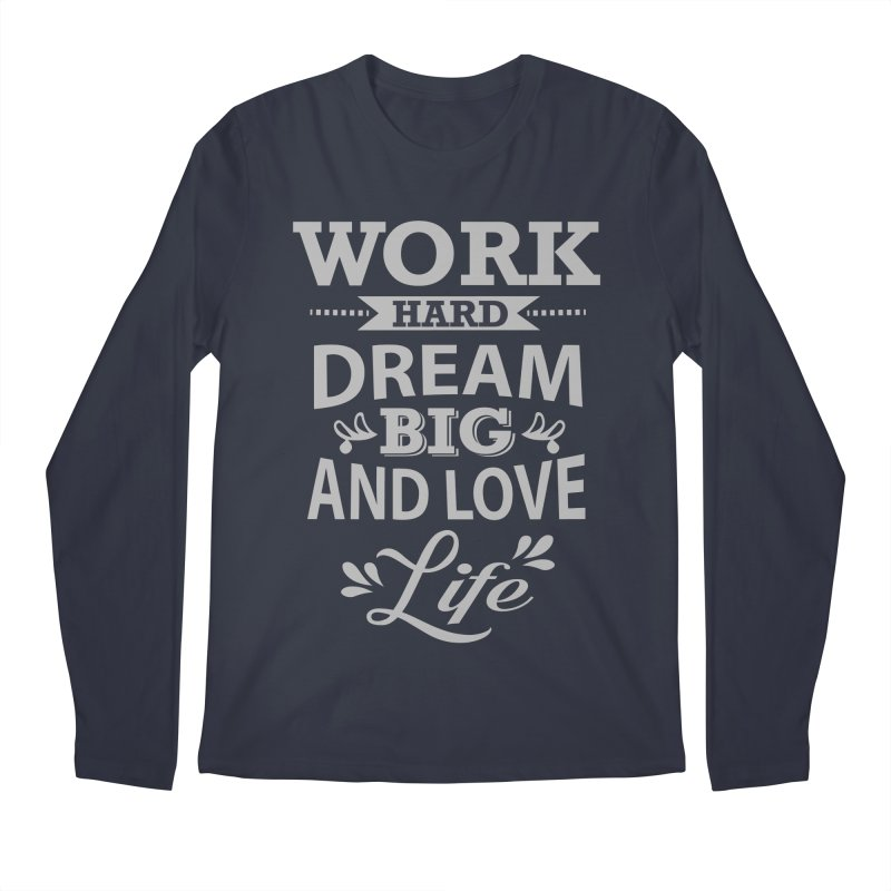 Work Dream Love Men's Regular Longsleeve T-Shirt by Mini Moo Moo Clothing Company