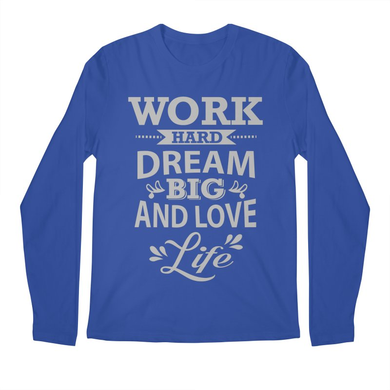 Work Dream Love Men's Longsleeve T-Shirt by Mini Moo Moo Clothing Company