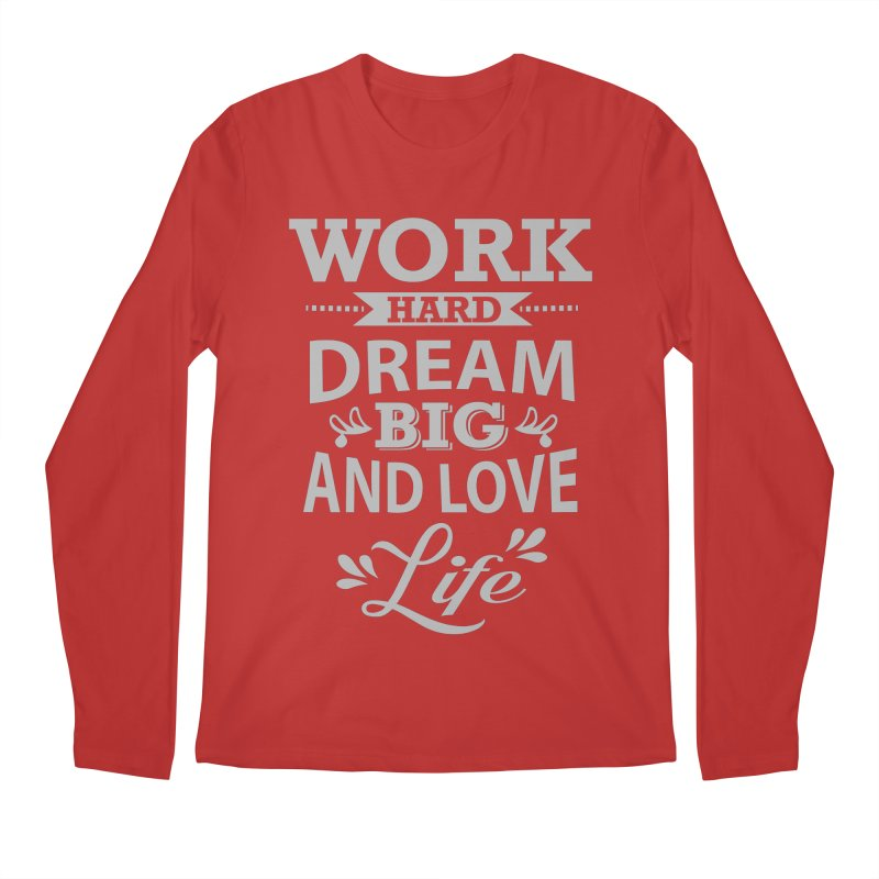 Work Dream Love Men's Regular Longsleeve T-Shirt by Mini Moo Moo Clothing Company