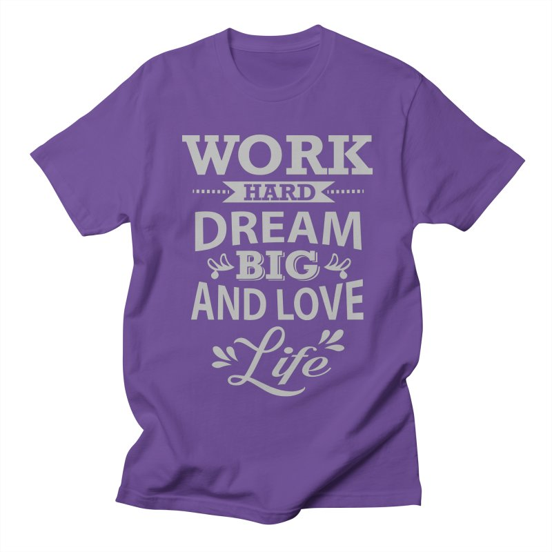 Work Dream Love Women's Regular Unisex T-Shirt by Mini Moo Moo Clothing Company