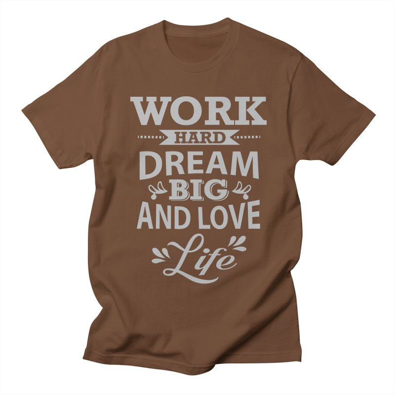 Work Dream Love Women's Unisex T-Shirt by Mini Moo Moo Clothing Company