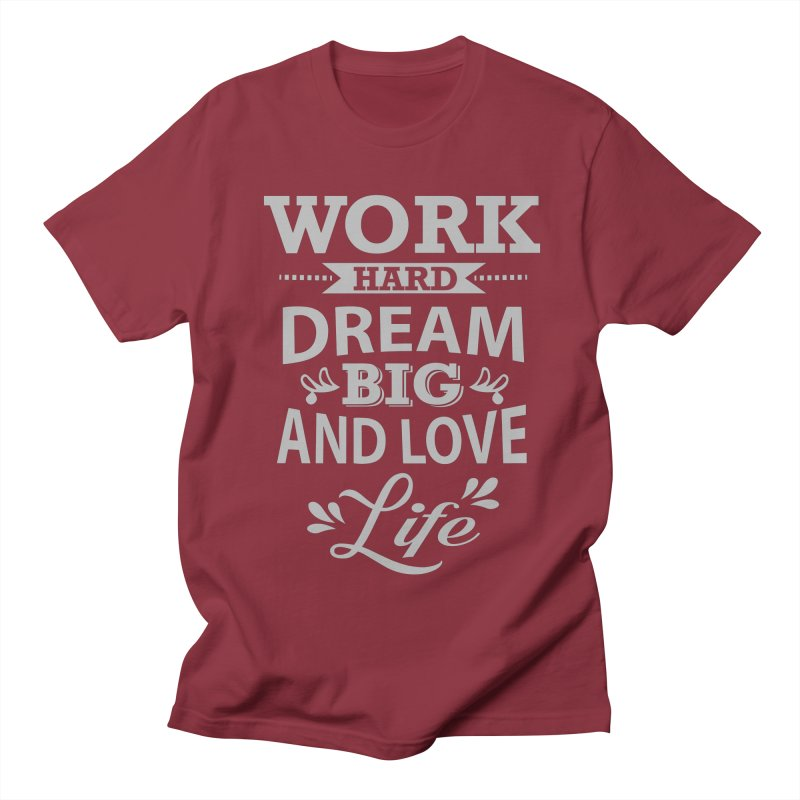 Work Dream Love Men's T-Shirt by Mini Moo Moo Clothing Company