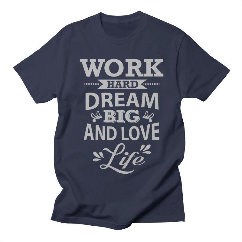 Work Dream Love Women's Regular Unisex T-Shirt by Mini Moo Moo Clothing Company
