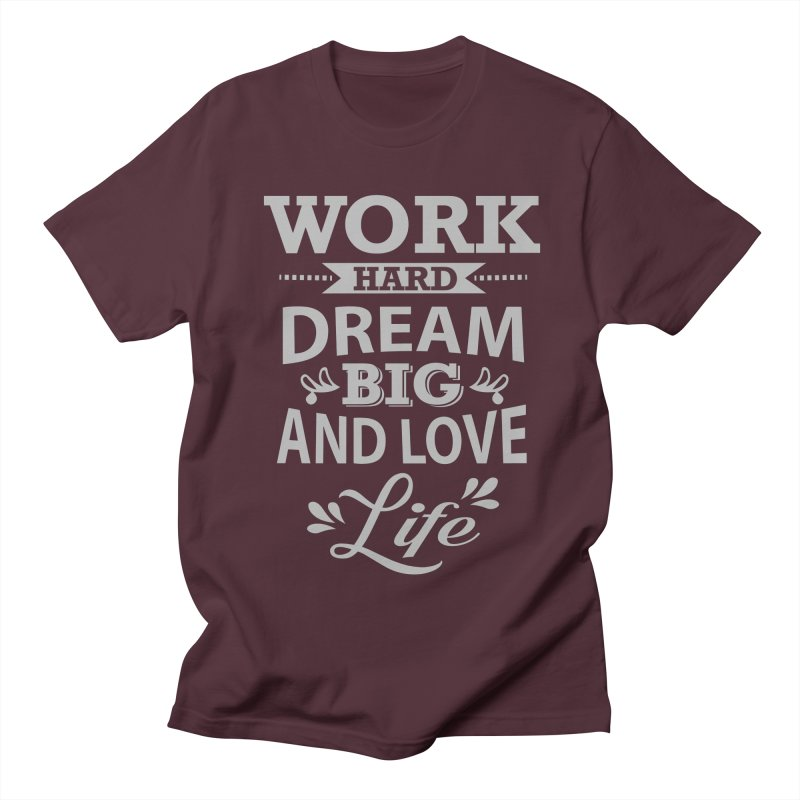 Work Dream Love Men's Regular T-Shirt by Mini Moo Moo Clothing Company