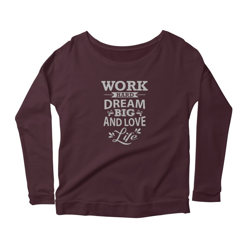 Work Dream Love Women's Longsleeve T-Shirt by Mini Moo Moo Clothing Company