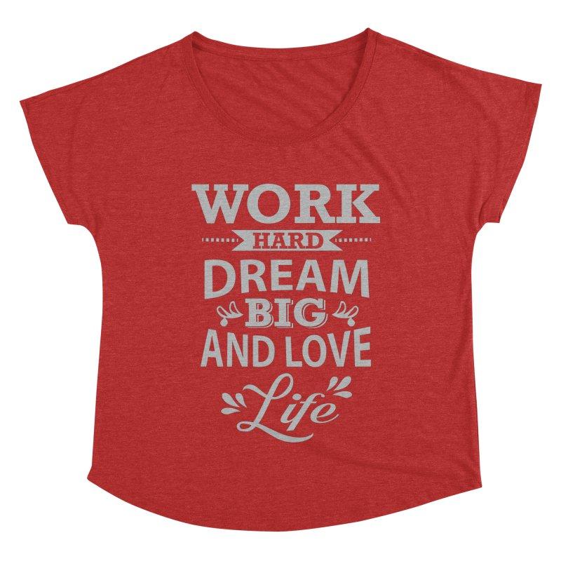 Work Dream Love Women's Dolman Scoop Neck by Mini Moo Moo Clothing Company