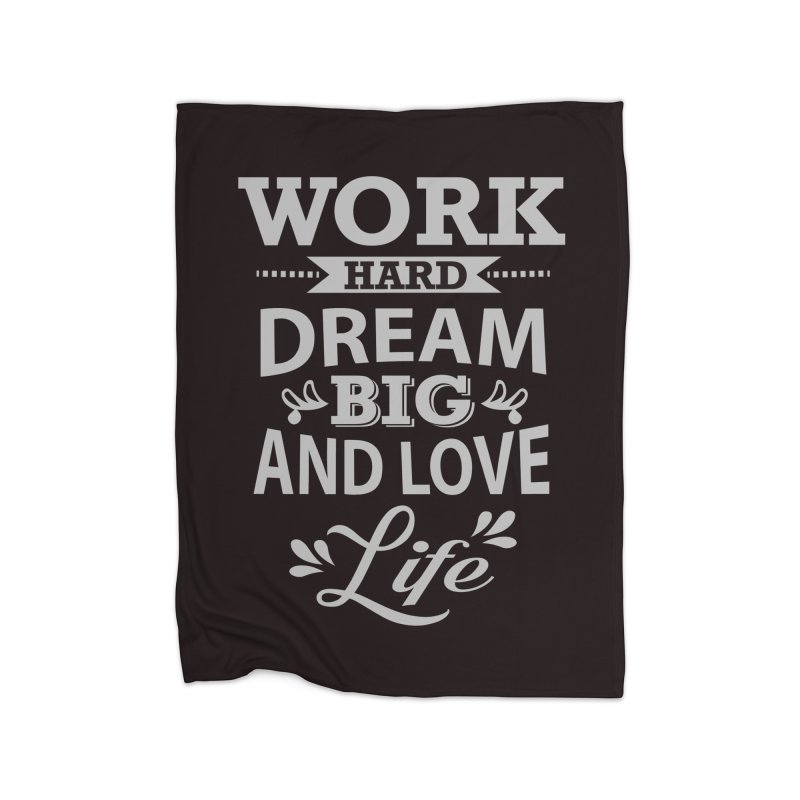 Work Dream Love Home Blanket by Mini Moo Moo Clothing Company