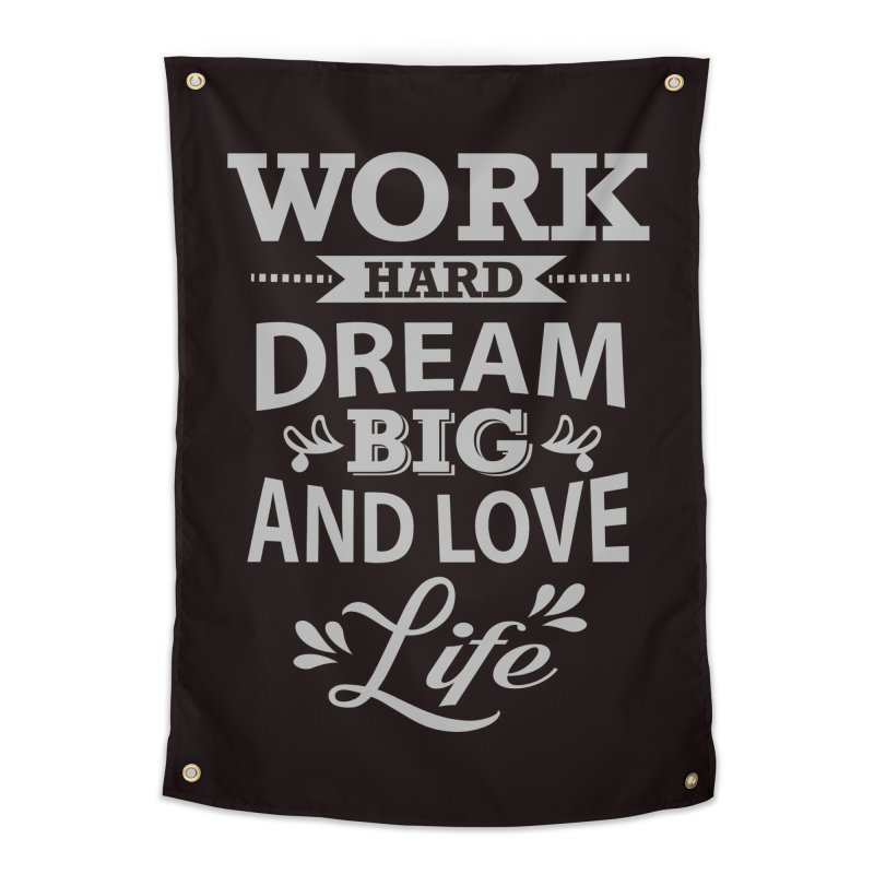 Work Dream Love Home Tapestry by Mini Moo Moo Clothing Company