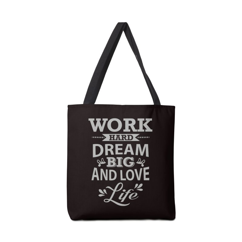 Work Dream Love Accessories Tote Bag Bag by Mini Moo Moo Clothing Company
