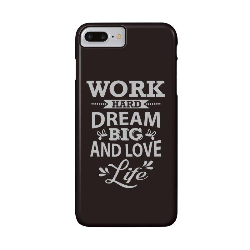 Work Dream Love Accessories Phone Case by Mini Moo Moo Clothing Company