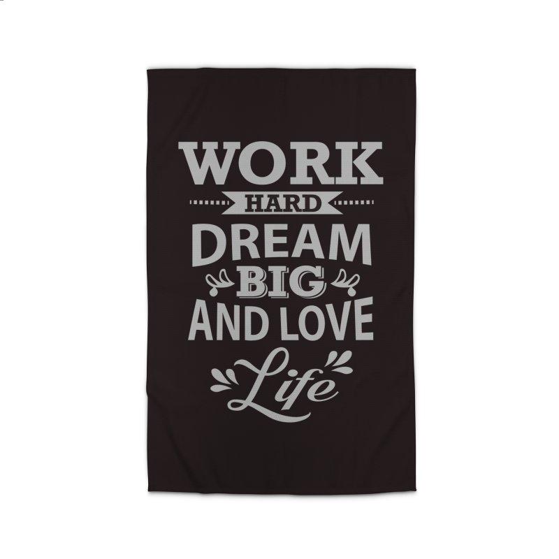 Work Dream Love Home Rug by Mini Moo Moo Clothing Company
