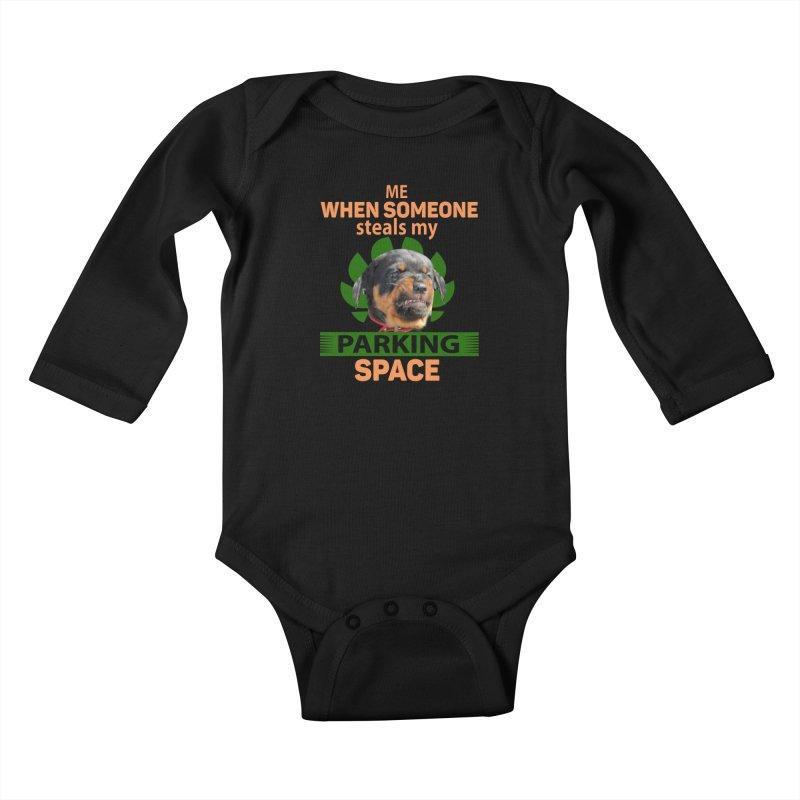 Rotti Road Rage Kids Baby Longsleeve Bodysuit by Mini Moo Moo Clothing Company