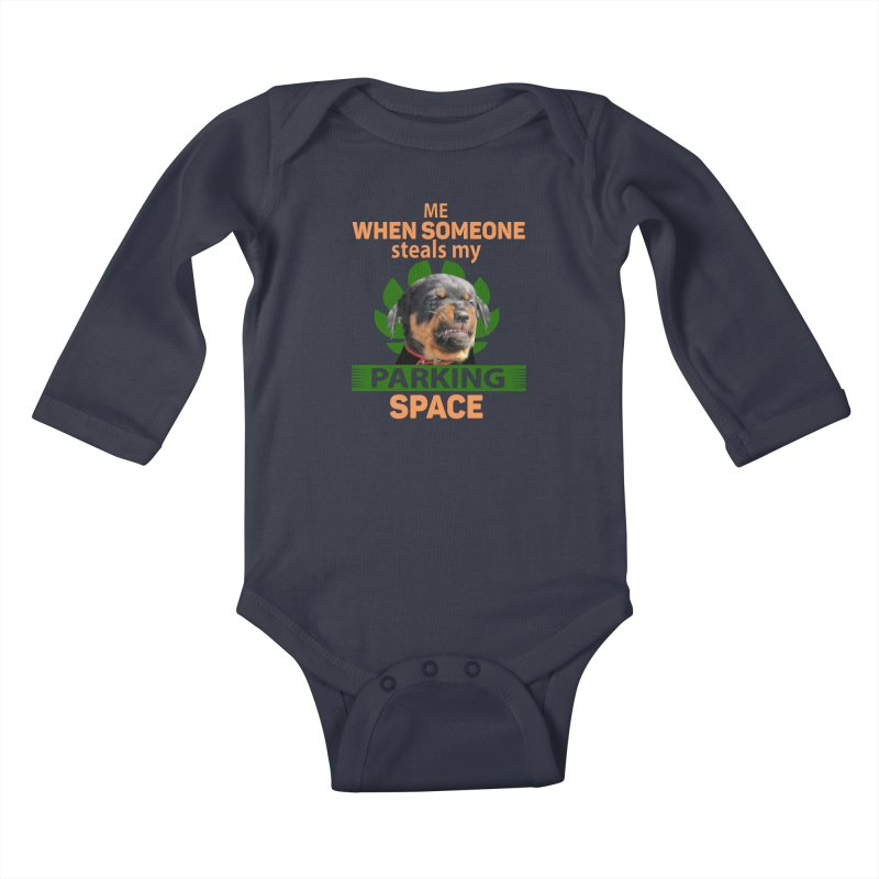 Rotti Road Rage Kids Baby Longsleeve Bodysuit by Mini Moo Moo Clothing Company