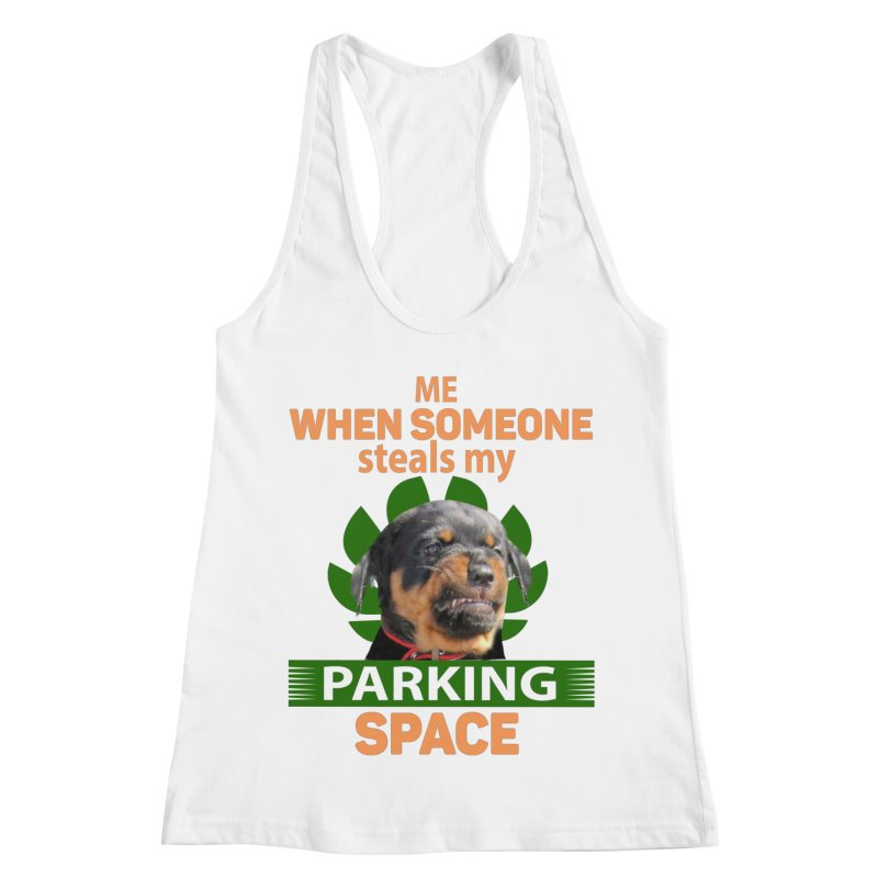 Rotti Road Rage Women's Racerback Tank by Mini Moo Moo Clothing Company
