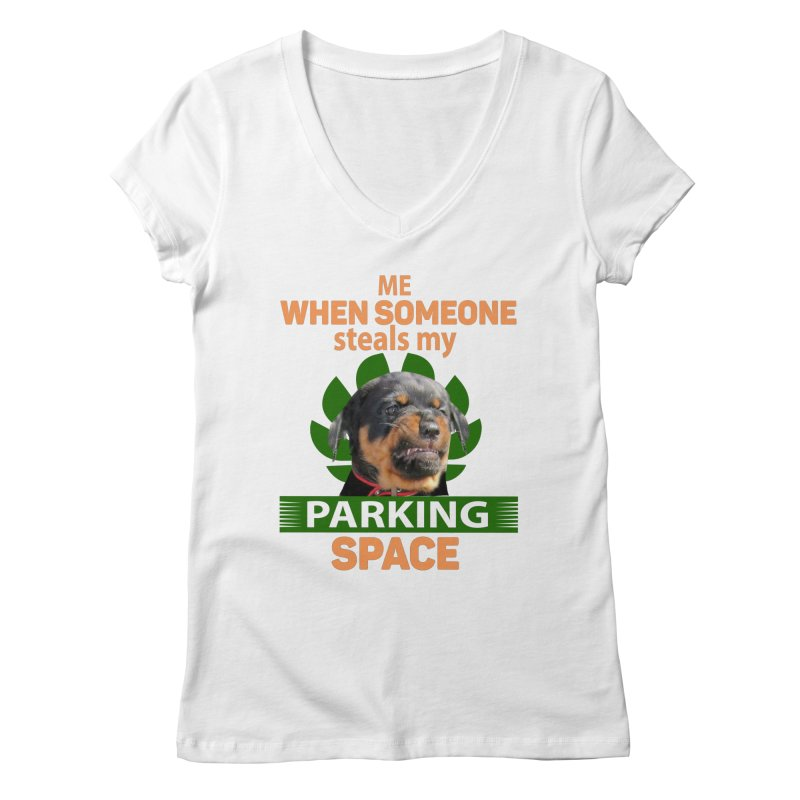 Rotti Road Rage Women's Regular V-Neck by Mini Moo Moo Clothing Company