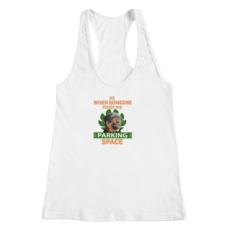 Rotti Road Rage Women's Racerback Tank by Mini Moo Moo Clothing Company