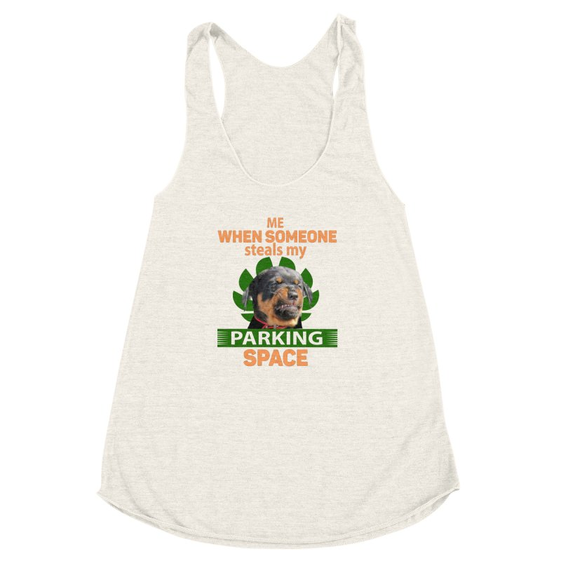 Rotti Road Rage Women's Racerback Triblend Tank by Mini Moo Moo Clothing Company