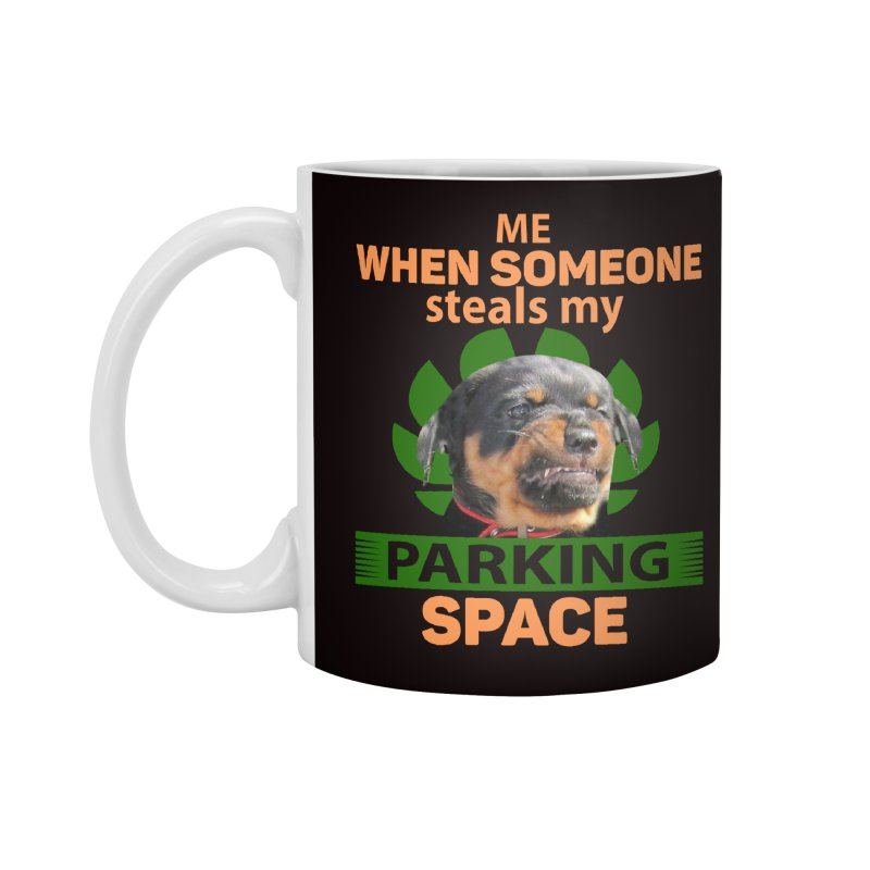 Rotti Road Rage in Standard Mug White by Mini Moo Moo Clothing Company