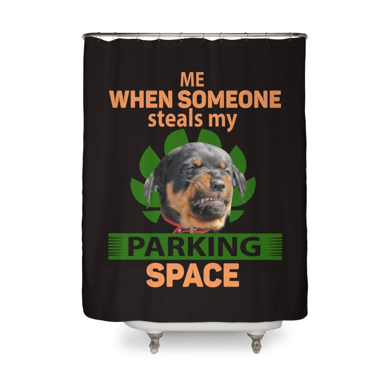 Rotti Road Rage Home Shower Curtain by Mini Moo Moo Clothing Company
