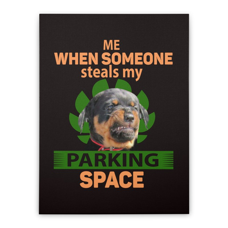 Rotti Road Rage Home Stretched Canvas by Mini Moo Moo Clothing Company
