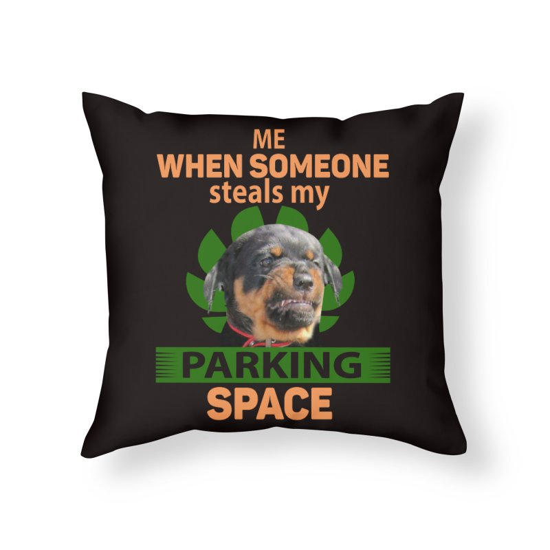 Rotti Road Rage Home Throw Pillow by Mini Moo Moo Clothing Company
