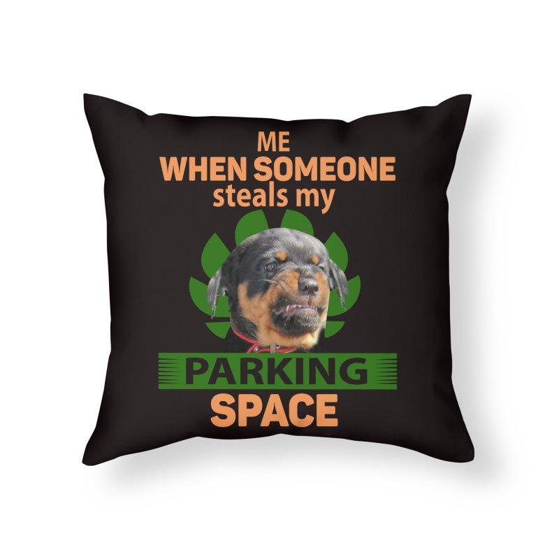 Rotti Road Rage Home Throw Pillow by Mini Moo Moo Clothing Company