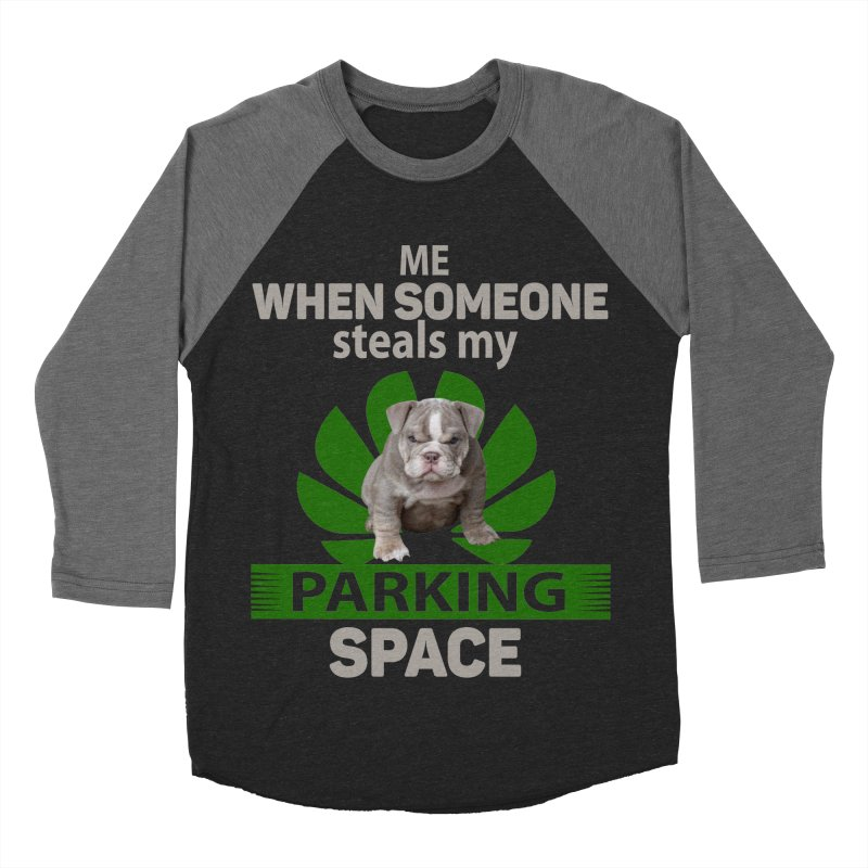 Pittbull Road Rage Men's Baseball Triblend Longsleeve T-Shirt by Mini Moo Moo Clothing Company
