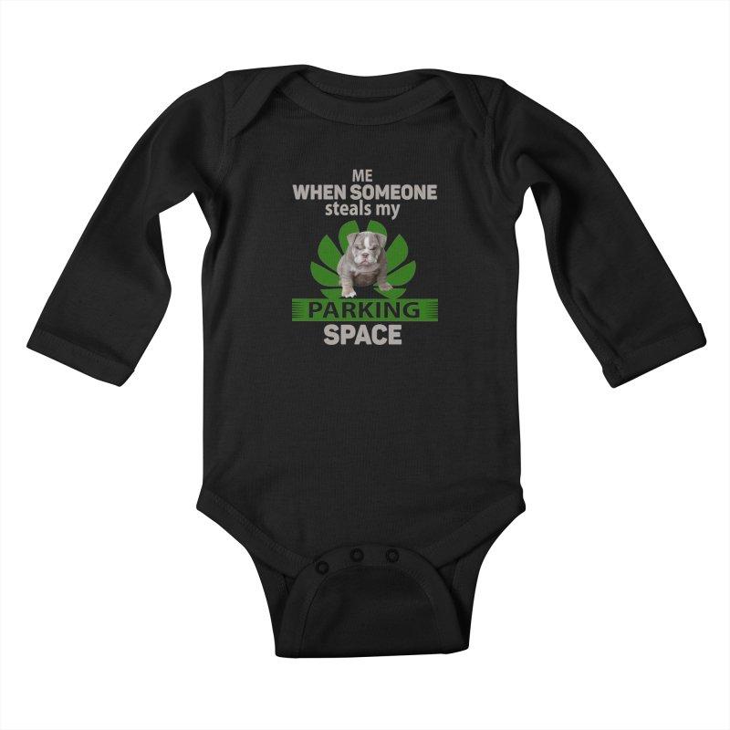 Pittbull Road Rage Kids Baby Longsleeve Bodysuit by Mini Moo Moo Clothing Company