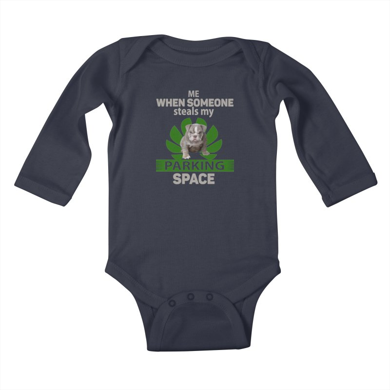 Pittbull Road Rage Kids Baby Longsleeve Bodysuit by Mini Moo Moo Clothing Company