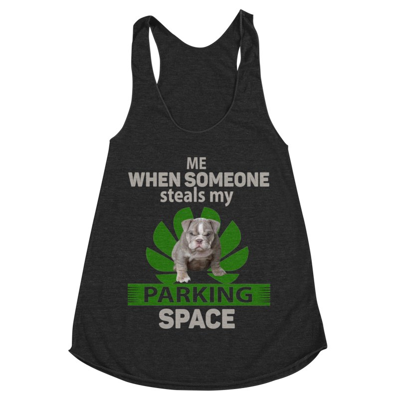 Pittbull Road Rage Women's Racerback Triblend Tank by Mini Moo Moo Clothing Company