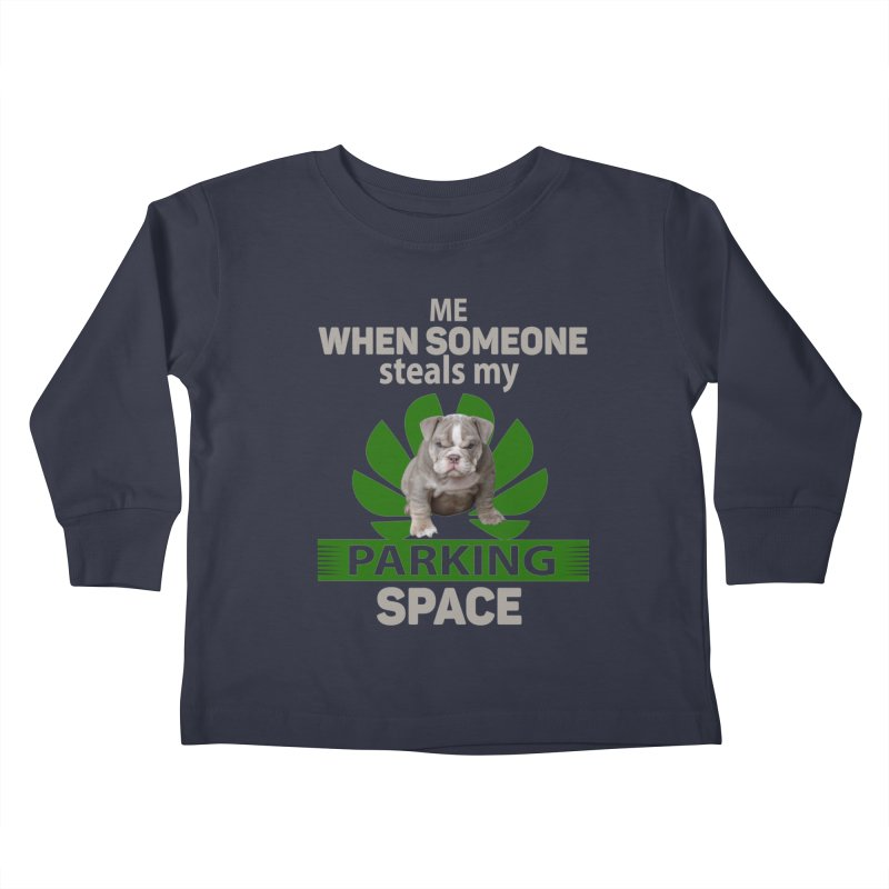 Pittbull Road Rage Kids Toddler Longsleeve T-Shirt by Mini Moo Moo Clothing Company