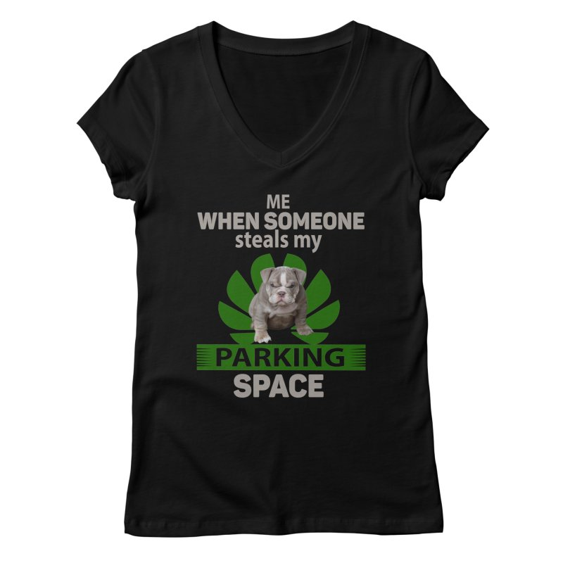 Pittbull Road Rage Women's Regular V-Neck by Mini Moo Moo Clothing Company