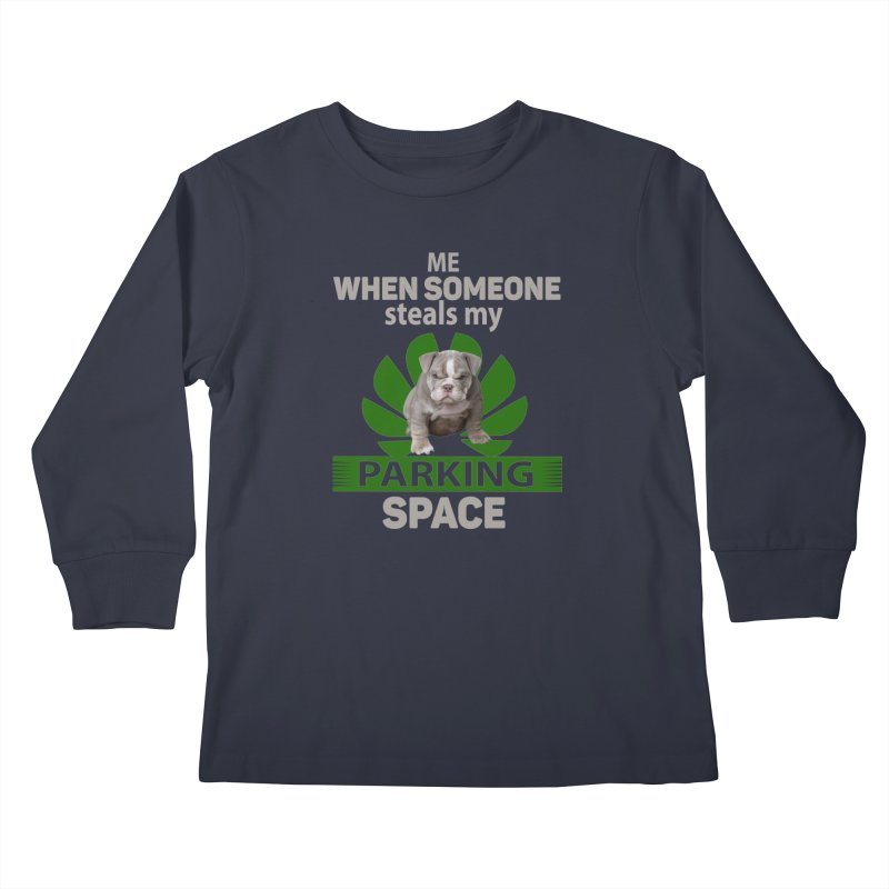 Pittbull Road Rage Kids Longsleeve T-Shirt by Mini Moo Moo Clothing Company